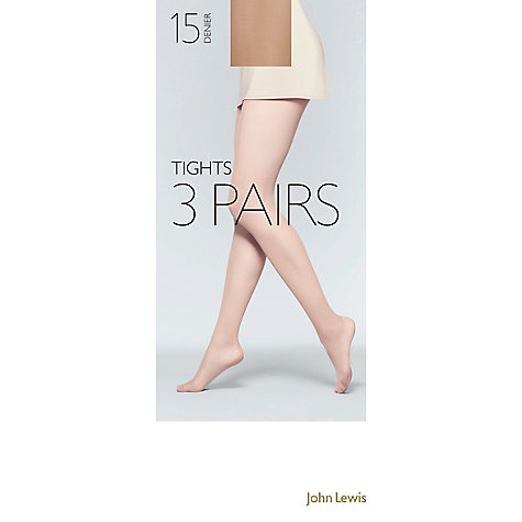 Buy John Lewis 15 Denier Tights,  Pack of 3 Online at johnlewis.com
