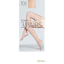 Buy John Lewis 20 Denier Tights, Pack of 3, Mocha Online at johnlewis.com
