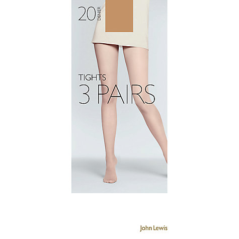 Buy John Lewis 20 Denier Tights, Pack of 3 Online at johnlewis.com