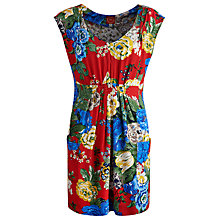 Buy Joules Floral Tunic Top, Maisey Floral Bus Red Online at johnlewis.com