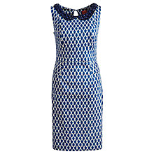 Buy Joules Francesca Peter Pan Collar Peplum Dress, Sea Blue Online at johnlewis.com
