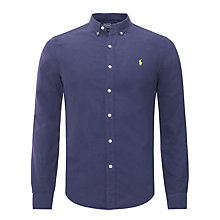Buy Polo Ralph Lauren Slim Fit Plain Long Sleeve Shirt Online at johnlewis.com