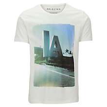 Buy Selected Homme LA Photo Print T-Shirt Online at johnlewis.com