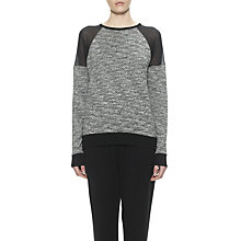 Buy Whistles Andi Mesh Insert Sweatshirt, Black Online at johnlewis.com