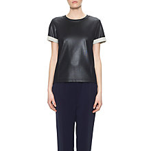 Buy Whistles Coated Roll Cuff Top, Black Online at johnlewis.com