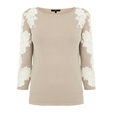 Buy Coast Dionne Knit Top, Neutral Online at johnlewis.com