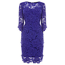 Buy Coast Vivianna Lace Dress, Purple Online at johnlewis.com