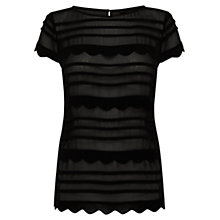Buy Coast Hadrienne Top, Black Online at johnlewis.com