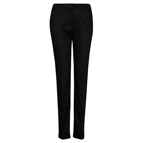 Buy Mango Tailored Cropped Trousers, Black Online at johnlewis.com