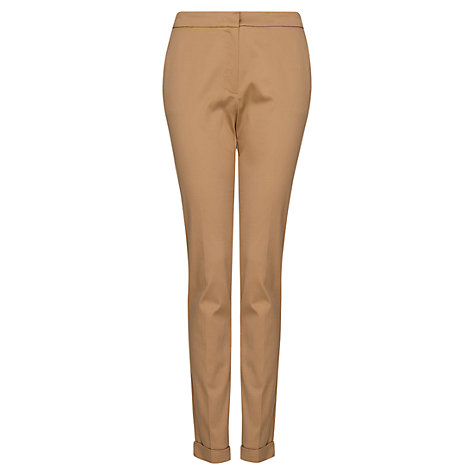 Buy Mango Tailored Cropped Trousers, Camel Online at johnlewis.com