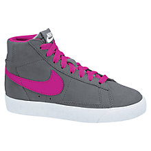 Buy Nike Blazer Mid Vintage Suede Basketball Shoes, Grey/Pink Online at johnlewis.com