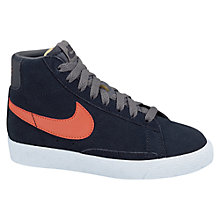 Buy Nike Blazer Mid Trainers, Navy Online at johnlewis.com