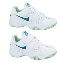 Buy Nike City Court 7 Trainers, White/Green Online at johnlewis.com