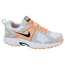 Buy Nike Dart 10 Trainers, White/Black/Orange Online at johnlewis.com