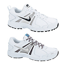 Buy Nike Dart 10 Trainers, White/Black/Silver Online at johnlewis.com
