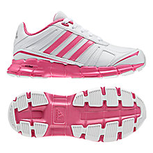 Buy Adidas Adifast Syn K Trainers, White/Pink Online at johnlewis.com