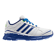 Buy Adidas Adifast Syn K Trainers, White/Blue Online at johnlewis.com
