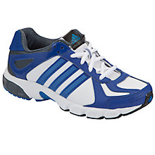 Buy Adidas Duramo 5 Syn K Trainers, White/Blue/Silver Online at johnlewis.com