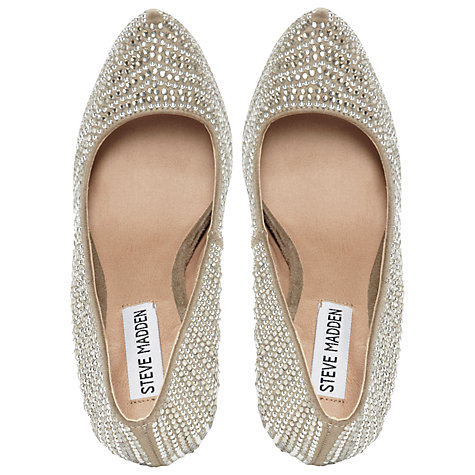 Buy Steve Madden Dyvinal Hidden Platform Court Shoes, Pewter Online at johnlewis.com