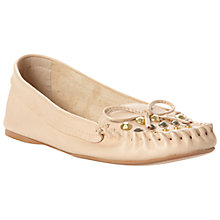 Buy Dune Lupton Leather Studded Vamp Moccasins Online at johnlewis.com