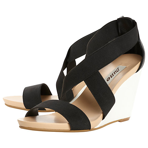 Buy Dune Glide Wedge Heel Cross Strap Sandals Online at johnlewis.com