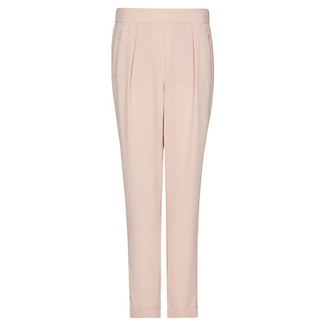 Buy Mango Tapered Trousers, Nude Online at johnlewis.com