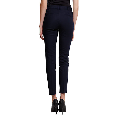 Buy Mango Slim Suit Trousers, Navy Online at johnlewis.com