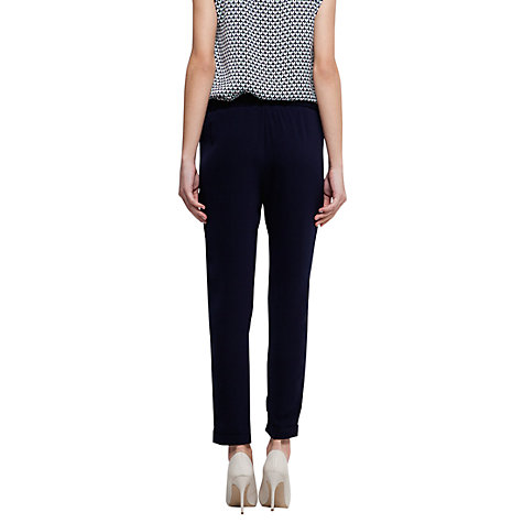 Buy Mango Pleated Tapered Trousers, Navy Online at johnlewis.com