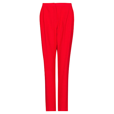 Buy Mango Tapered Pleated Trousers, Red Online at johnlewis.com