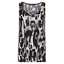 Buy Mango Printed Top, Black Online at johnlewis.com