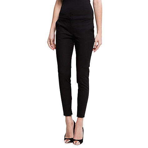 Buy Mango Super Slim Trousers, Black Online at johnlewis.com