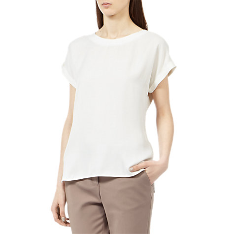 Buy Reiss Button Back Top Online at johnlewis.com