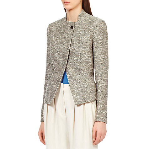 Buy Reiss Yen Slim Seamed Jacket, Champagne Online at johnlewis.com