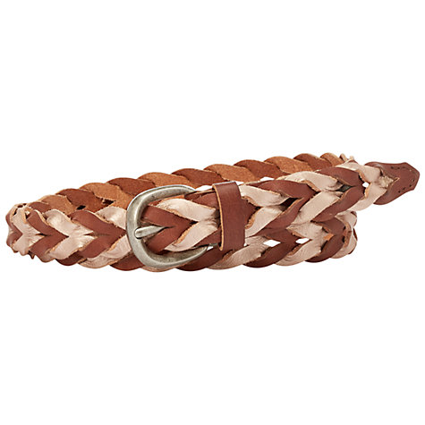 Buy Fossil Colour Block Woven Belt Online at johnlewis.com