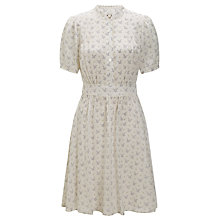 Buy Somerset by Alice Temperley Bird Print Tea Dress, Cream/Navy Online at johnlewis.com