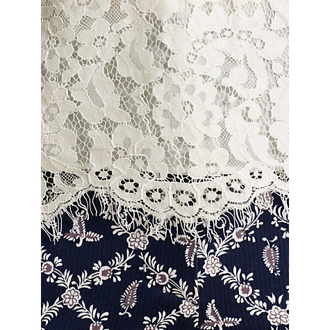 Buy Somerset by Alice Temperley Lace Bodice Blouse, Cream Online at johnlewis.com