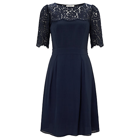 Buy Somerset by Alice Temperley Lace Bodice Dress, Midnight Online at johnlewis.com