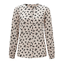 Buy Somerset by Alice Temperley Pine Cone Blouse, Cream Online at johnlewis.com