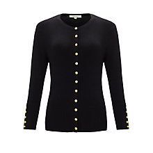 Buy Somerset by Alice Temperley Button Detail Cardigan, Black Online at johnlewis.com