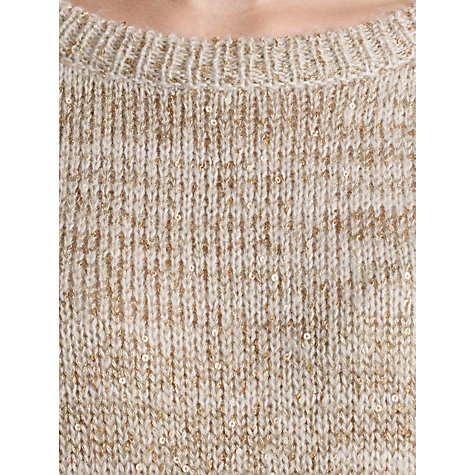 Buy Somerset by Alice Temperley Sequin Detail Jumper, Gold Online at johnlewis.com