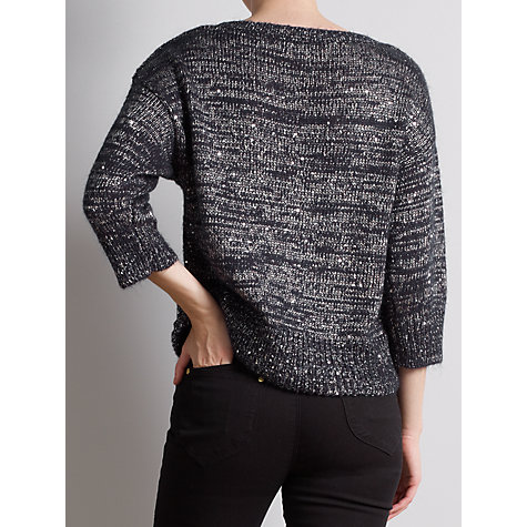 Buy Somerset by Alice Temperley Sequin Detail Jumper, Navy Online at johnlewis.com