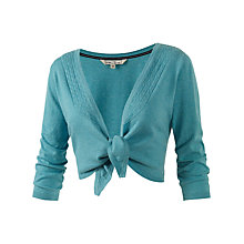 Buy Fat Face Tie Front Shrug, Turquoise Online at johnlewis.com