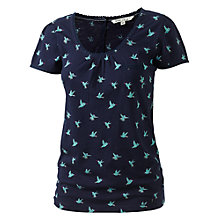 Buy Fat Face Kadi Hummingbird Print T-Shirt, Navy Online at johnlewis.com