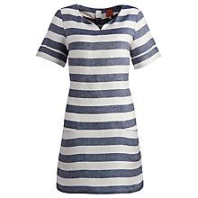Buy Joules Abington Crepe Tunic Dress, Navy/Porcelain Online at johnlewis.com