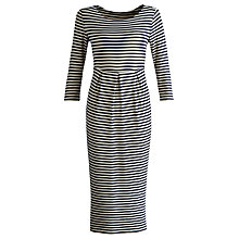 Buy Joules Striped Jersey Dress, Navy/Porcelain Online at johnlewis.com