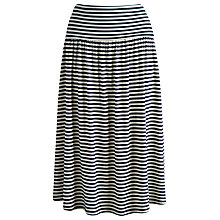 Buy Joules Stripe Jersey Skirt, Navy/Porcelain Online at johnlewis.com
