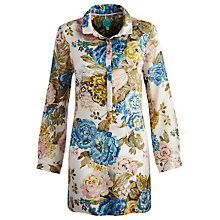 Buy Joules Cassandra Shirt Dress, Maisey Floral Porcelain Online at johnlewis.com