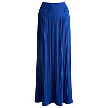 Buy Joules Emma Pleated Maxi Skirt, Bondi Blue Online at johnlewis.com