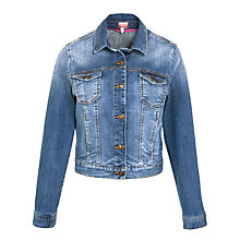 Buy Joules Fliss Denim Jacket, Light Denim Online at johnlewis.com