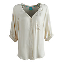 Buy Joules Suzanne Dropped Sleeve Blouse, Porcelain Online at johnlewis.com